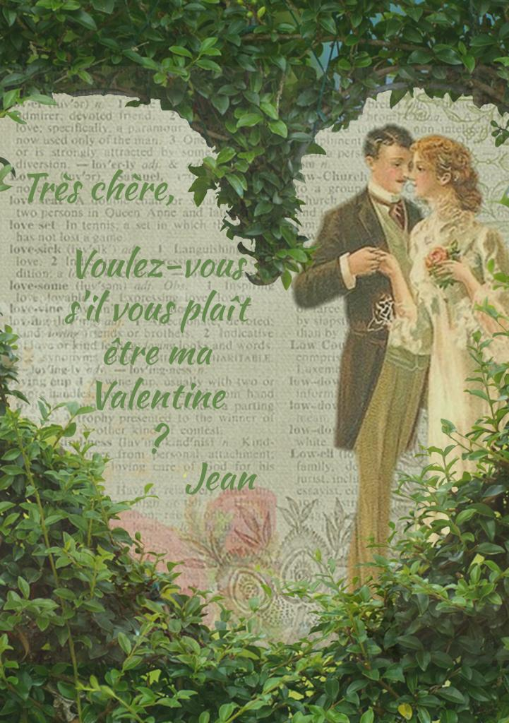 Carte de Saint Valentin retro
